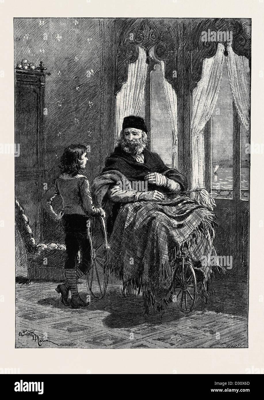 GIUSEPPE GARIBALDI IN 1882 - Stock Image