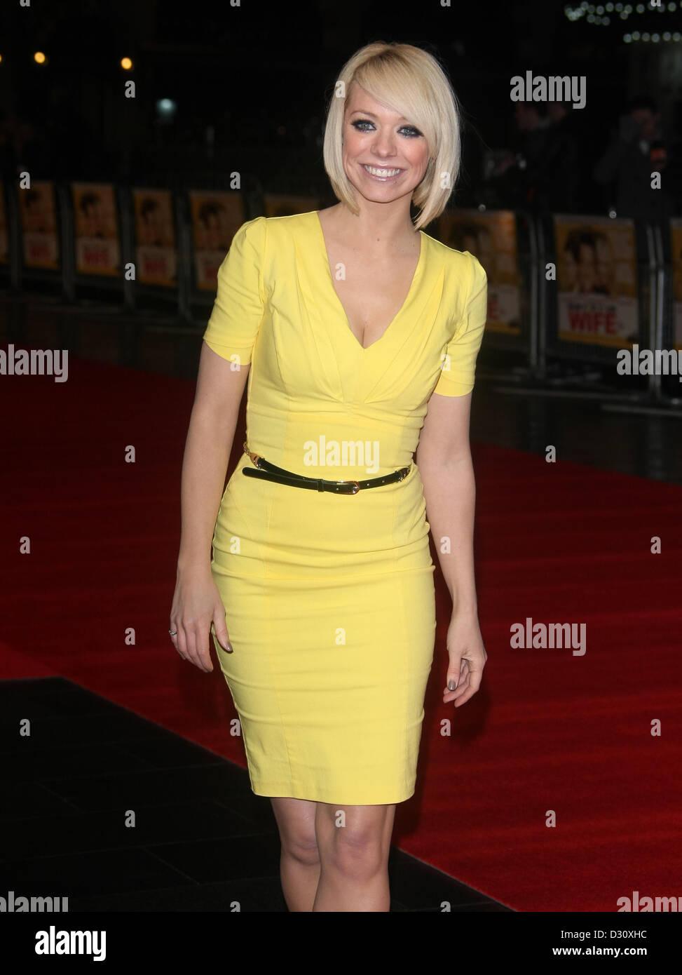 LIZ MCCLARNON RUN FOR YOUR WIFE. FILM PREMIERE LONDON ENGLAND UK 05 February 2013 - Stock Image
