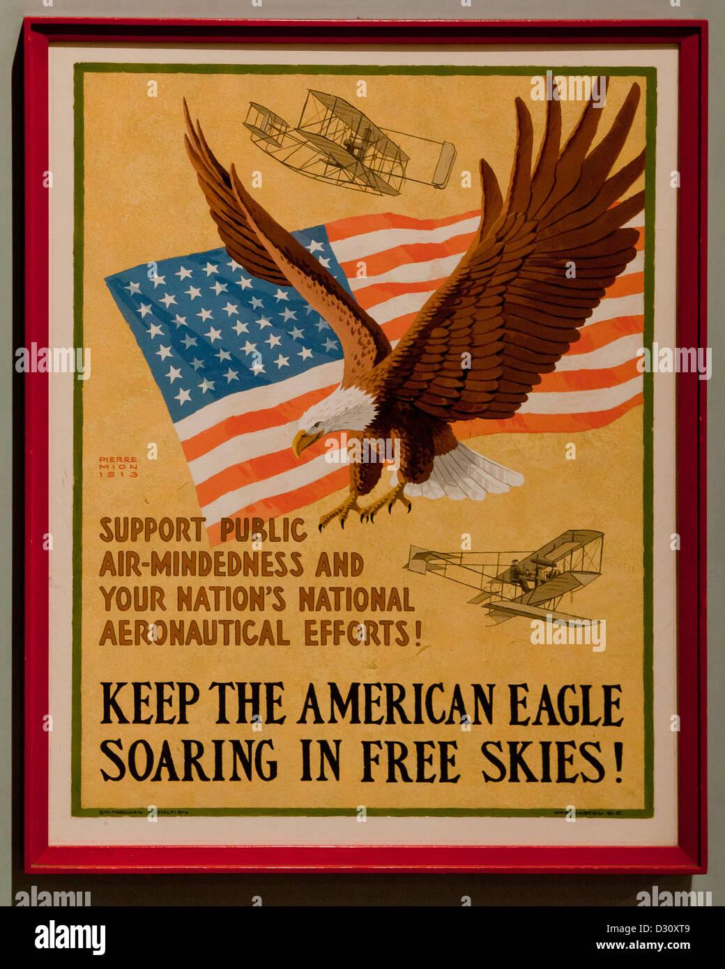 American Eagle National Aeronautics campaign poster - USA - Stock Image