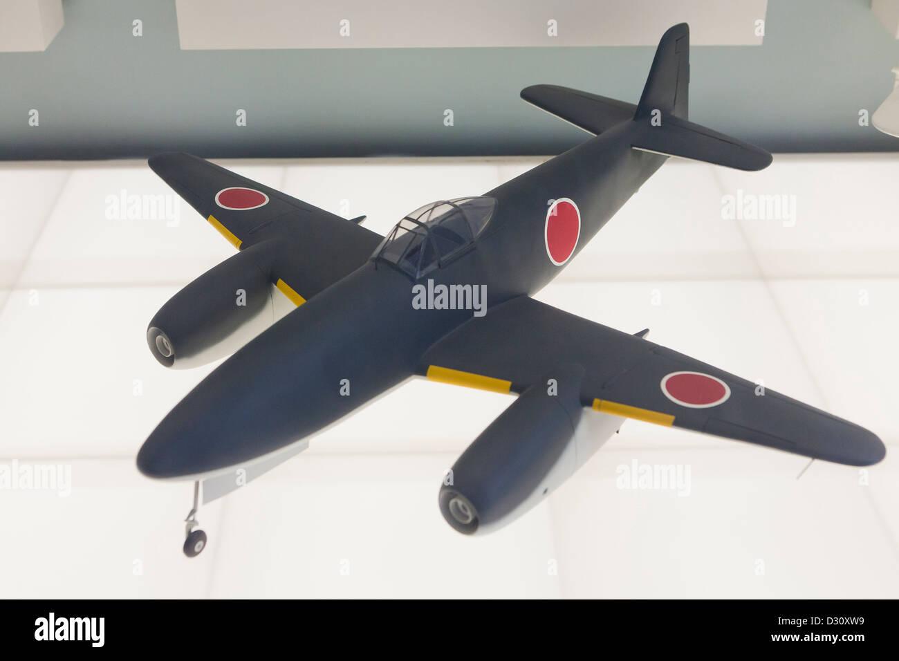 Nakajima Kikka fighter aircraft model - Stock Image