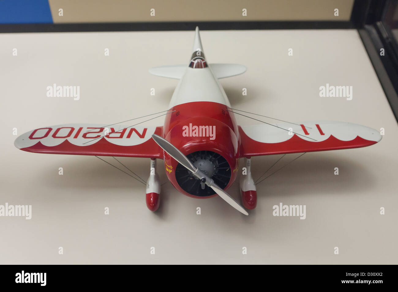 Gee-Bee Super Sportster R-1 airplane model - Stock Image