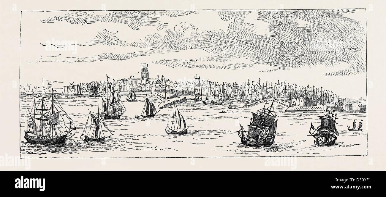 KINGSTON-UPON-HULL IN 1768 - Stock Image