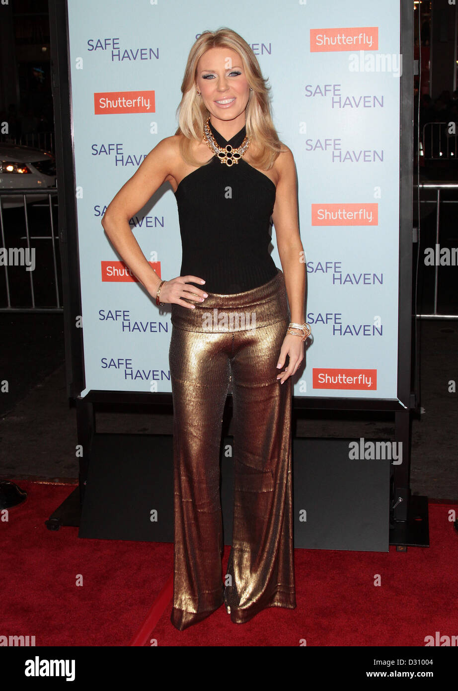 GRETCHEN ROSSI SAFE HAVEN PREMIERE LOS ANGELES CALIFORNIA USA 05 February 2013 Stock Photo