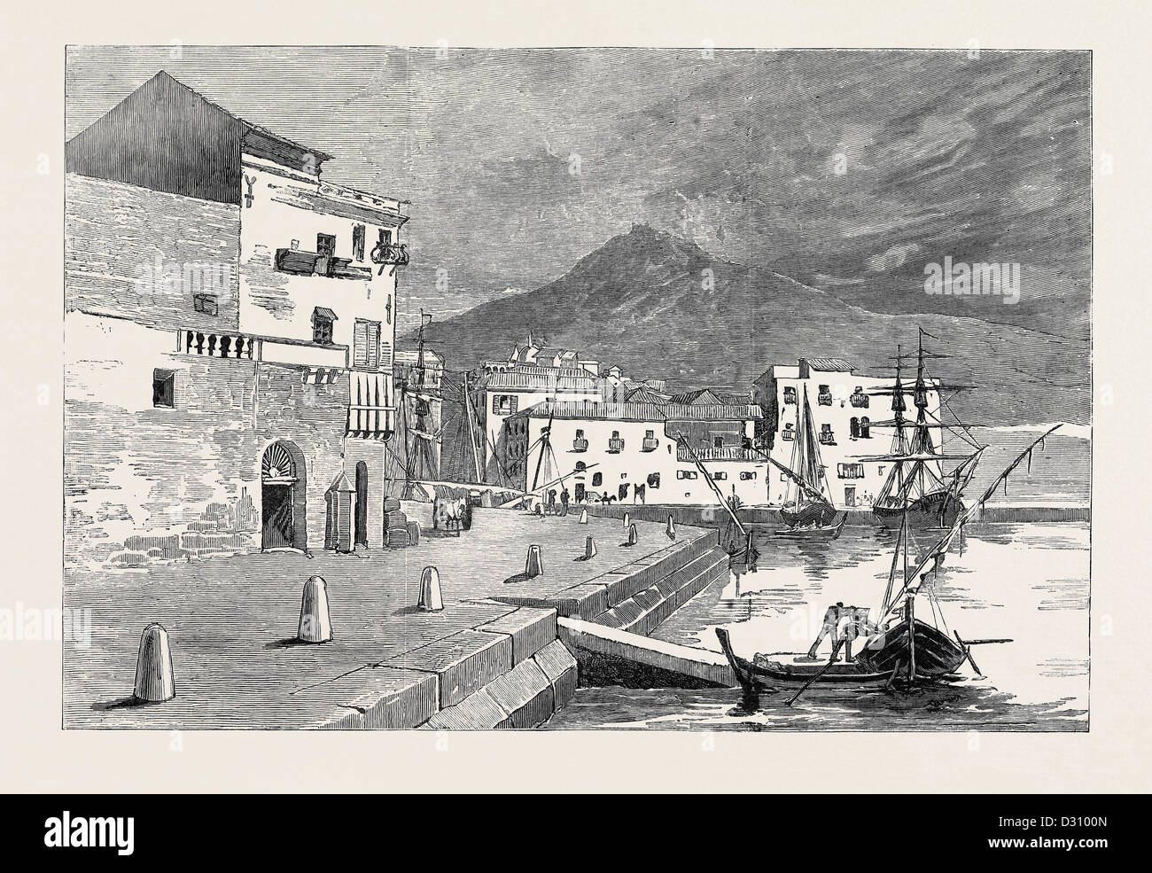 ROUND THE WORLD YACHTING IN THE 'CEYLON'; PALERMO - Stock Image