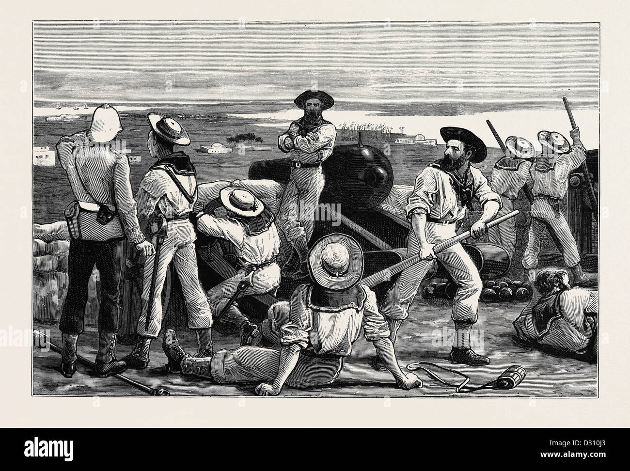 THE WAR IN EGYPT: BLUE-JACKETS IN POSSESSION AT FORT KOM-EL-DIK, ALEXANDRIA - Stock Image