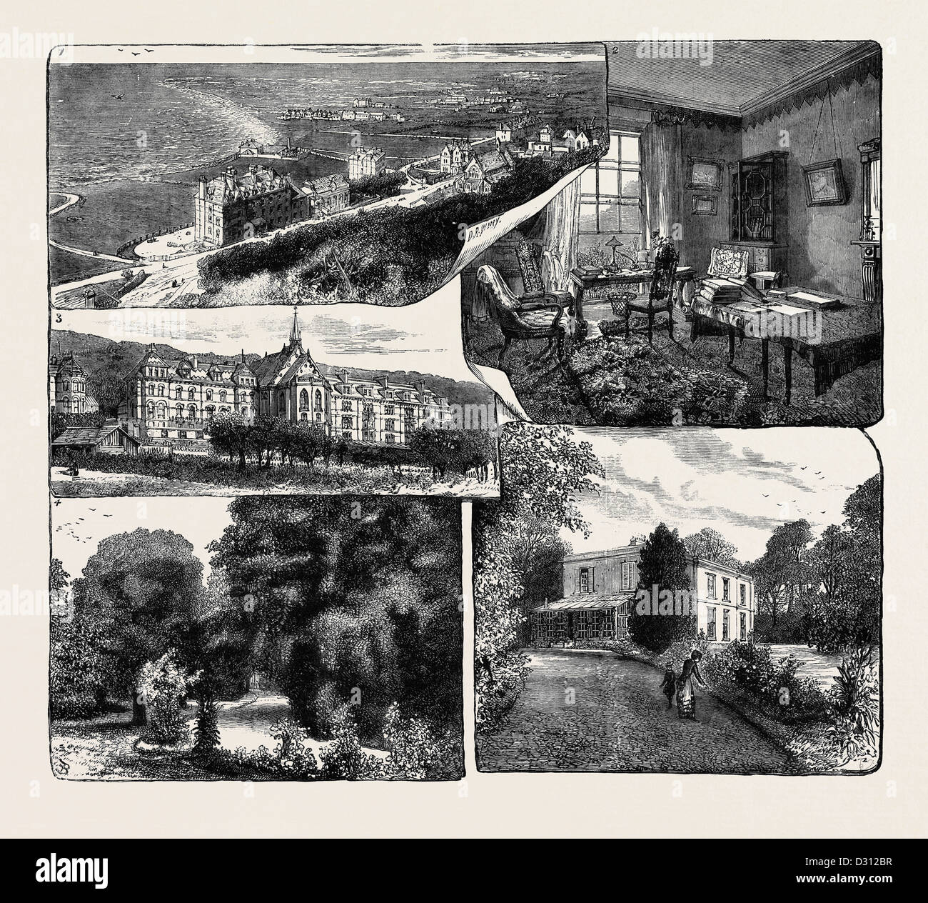 MEMORIES OF CHARLES KINGSLEY AT WESTWARD HO! DEVONSHIRE - Stock Image