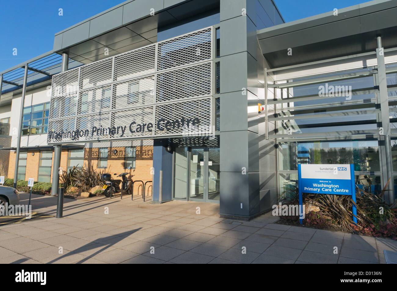 NHS Washington Primary Care Centre north east England UK - Stock Image