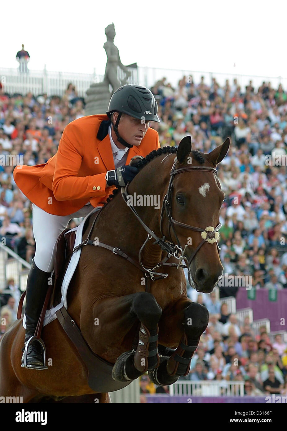 Marc Houtzager riding Tamino (NED, Netherlands). Individual Showjumping - Stock Image
