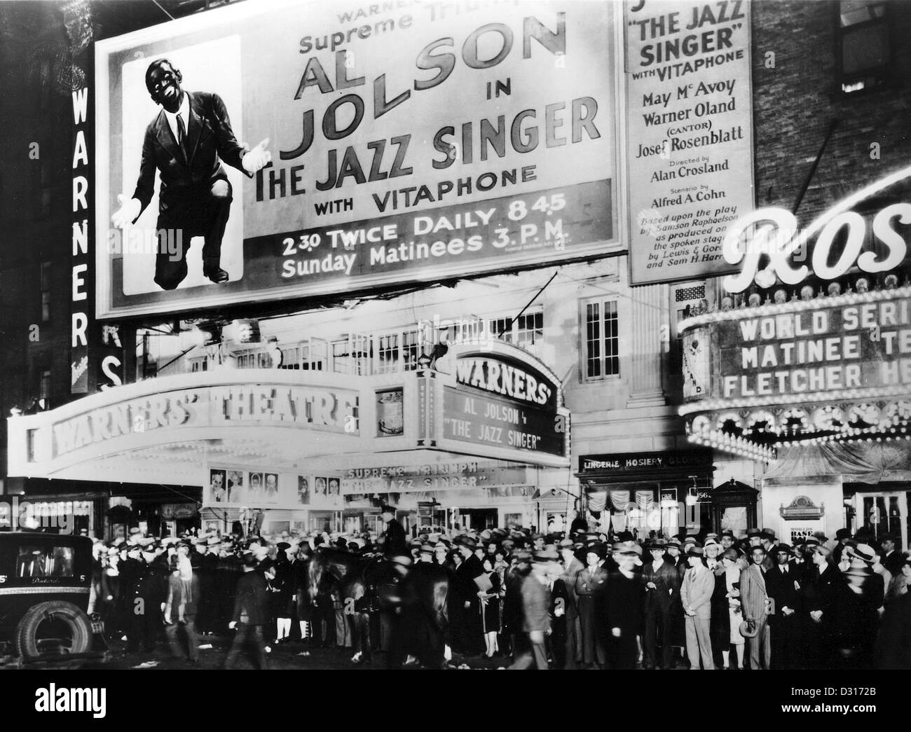 The premiere of The jazz singer - Stock Image