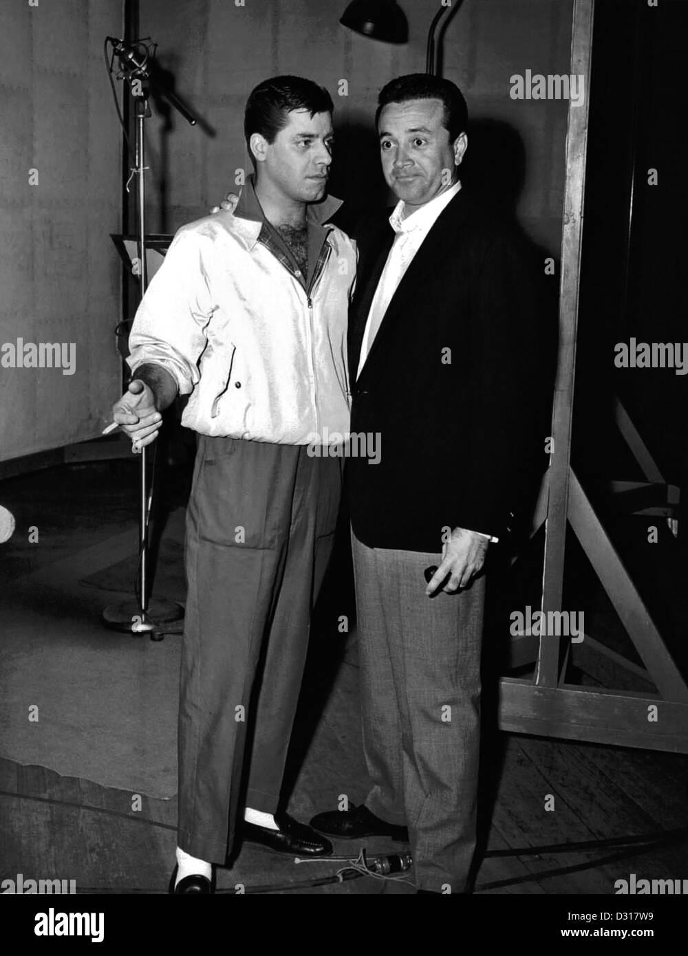Jerry Lewis, Vic Damone - Stock Image
