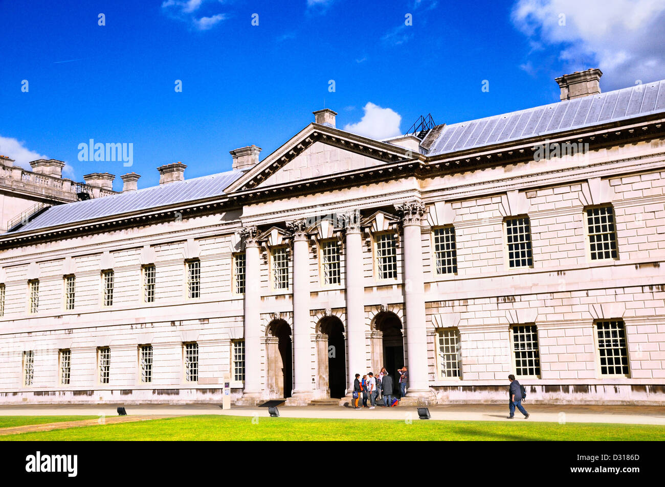 Stephen Lawrence Gallery and University of Greenwich, Queen Anne Court, Old Royal Naval College, Greenwich, London, - Stock Image