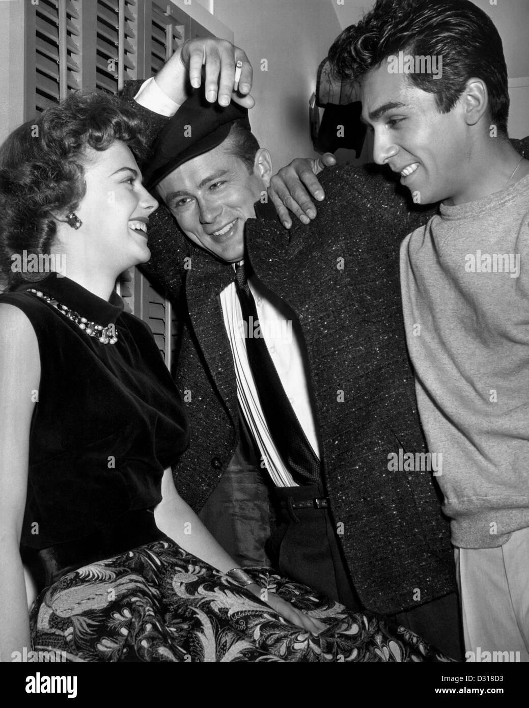 Natalie Wood, James Dean, Sal Mineo - Stock Image