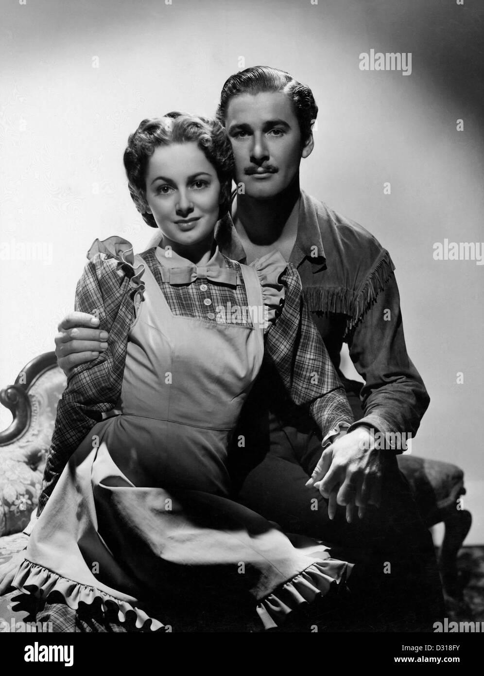 Olivia de Havilland, Erroll Flynn - Stock Image