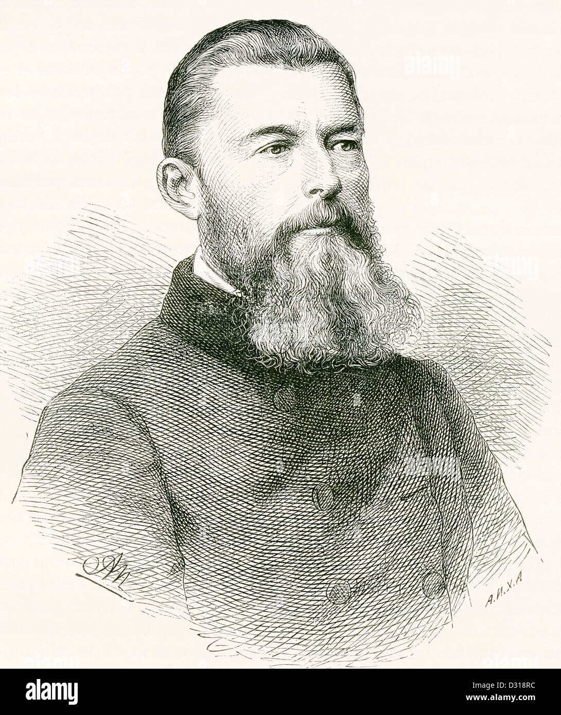 Ludwig Andreas von Feuerbach, 1804 – 1872. German philosopher and anthropologist. - Stock Image