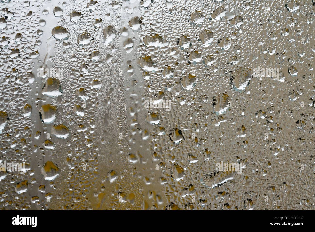 Rain on a window - Stock Image