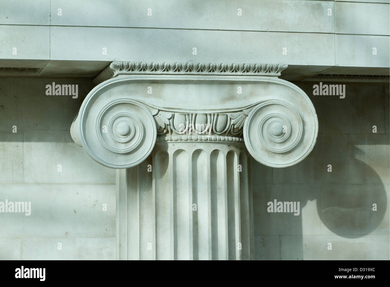 neoclassical architecture at the british museum london stock photo