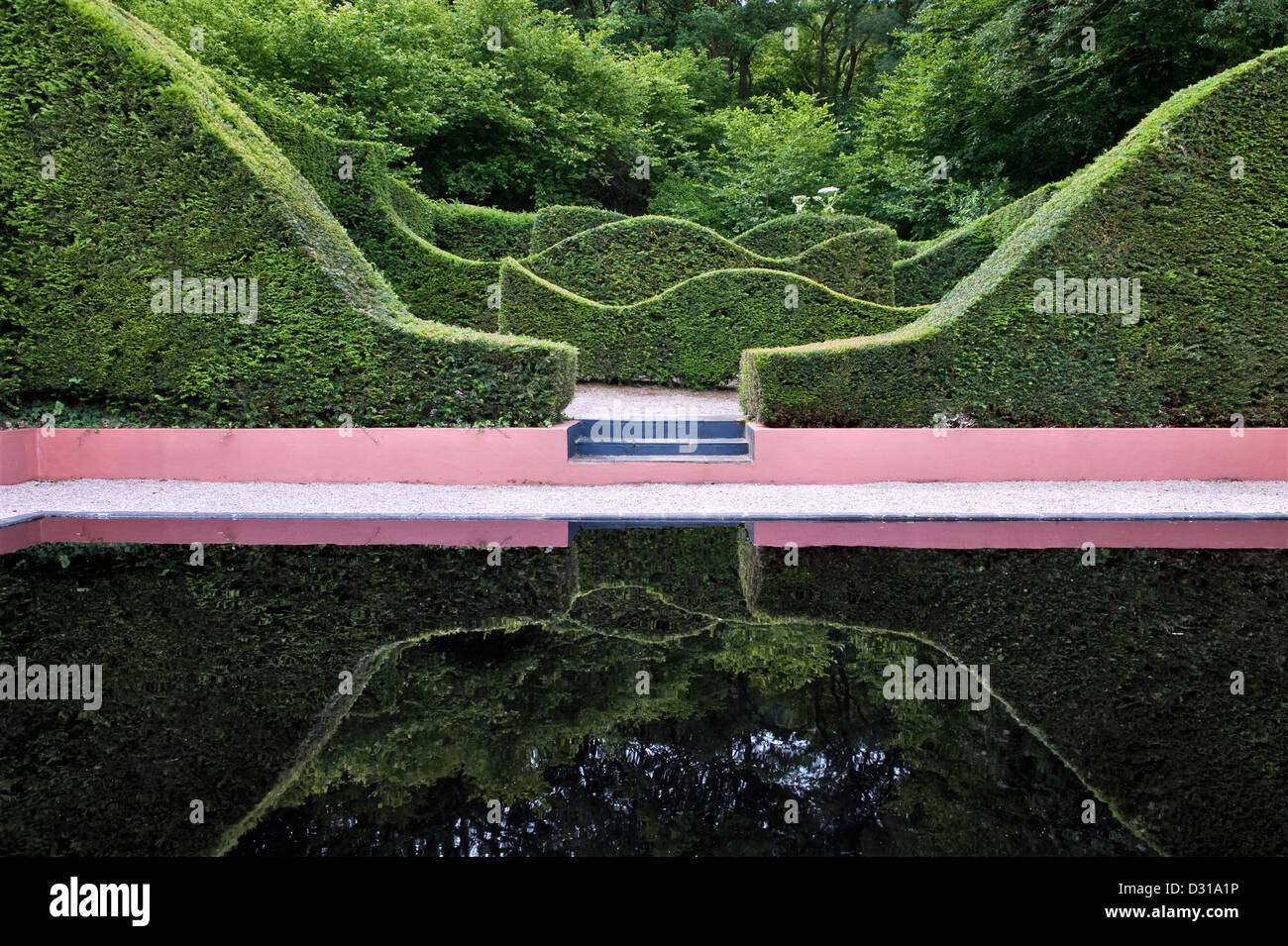 Veddw House Garden, Devauden, Wales, UK. A modern romantic garden made by Anne Wareham and Charles Hawes - Stock Image