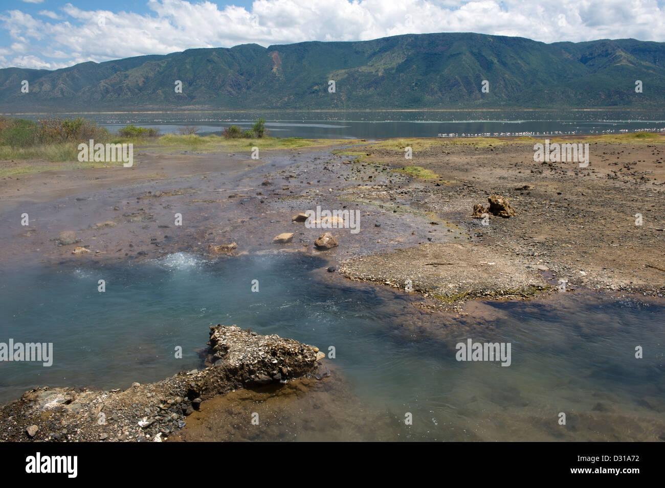 Hot springs, Lake Bogoria National Reserve, Rift Valley, Kenya Stock Photo