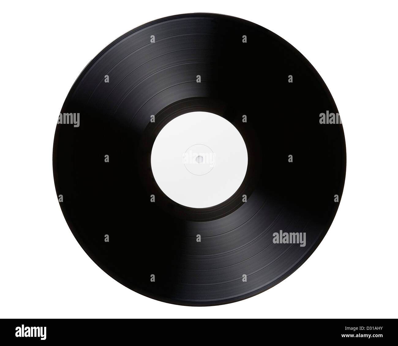 Vinyl Record, Cut Out. - Stock Image