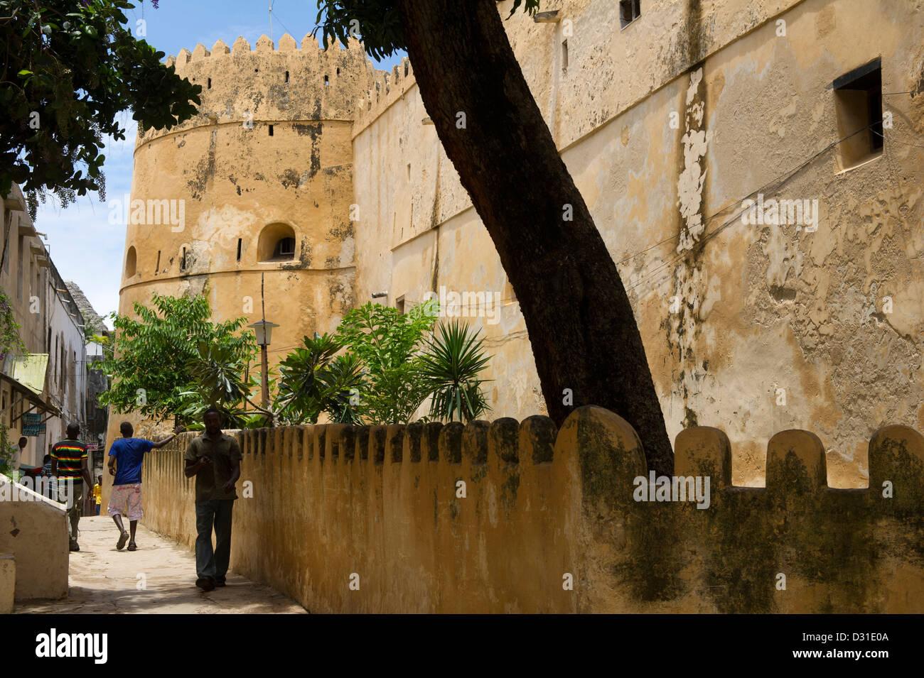 The Fort, Lamu, Lamu Archipelago, Kenya Stock Photo