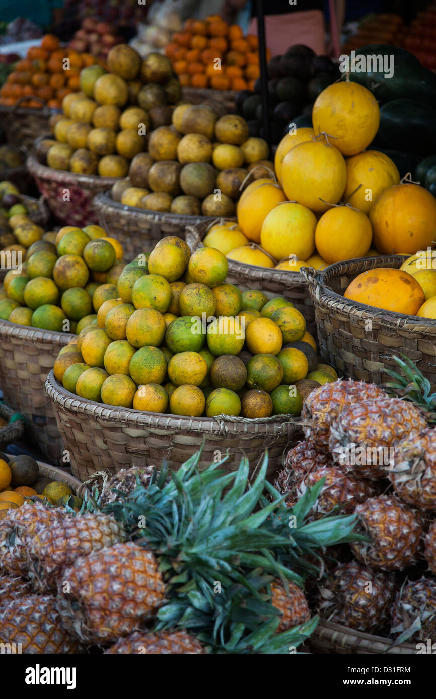 Myanmar, fruit at the market - Stock Image