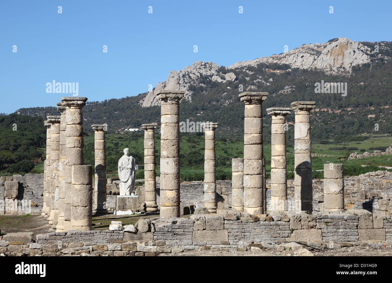 Baleo Claudia - roman ruins in Bolonia, Andalusia, southern Spain Stock Photo