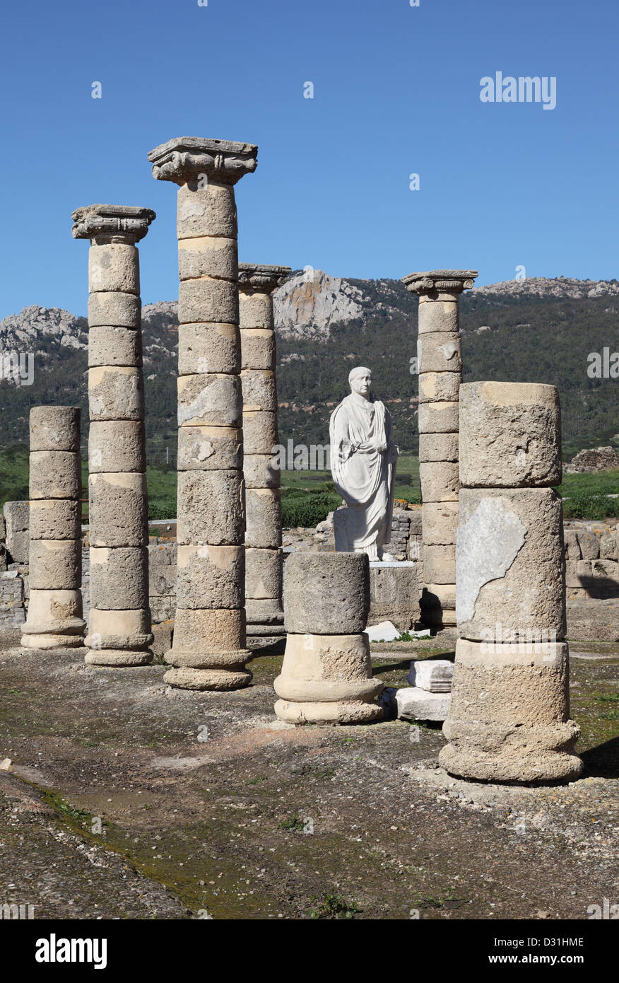 Baleo Claudia - roman ruins in Bolonia, Andalusia, southern Spain Stock Photo
