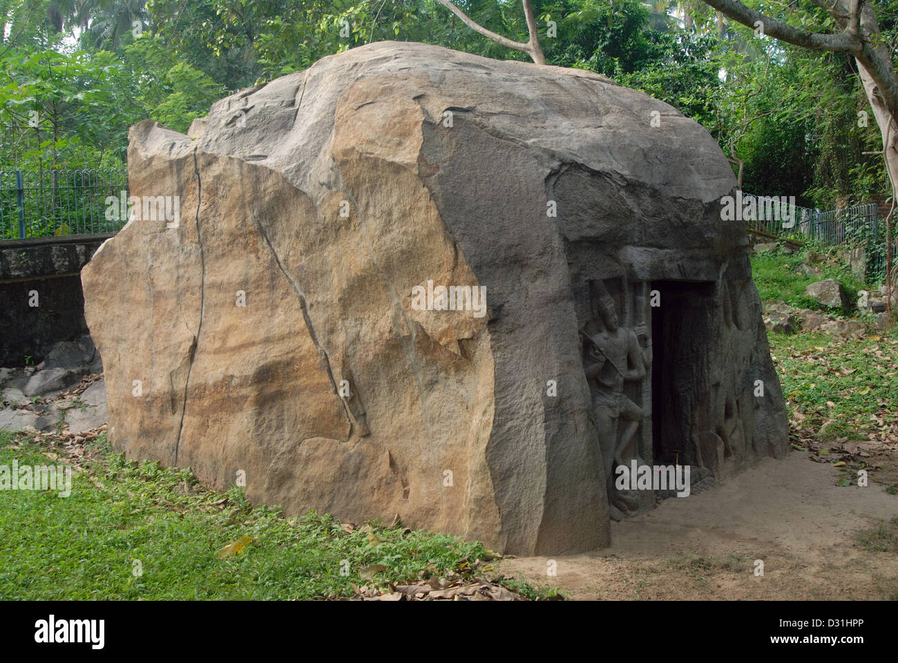General-View of the rock-cut shrine, Vizhinjam, near Thiruvananthapuram. - Stock Image