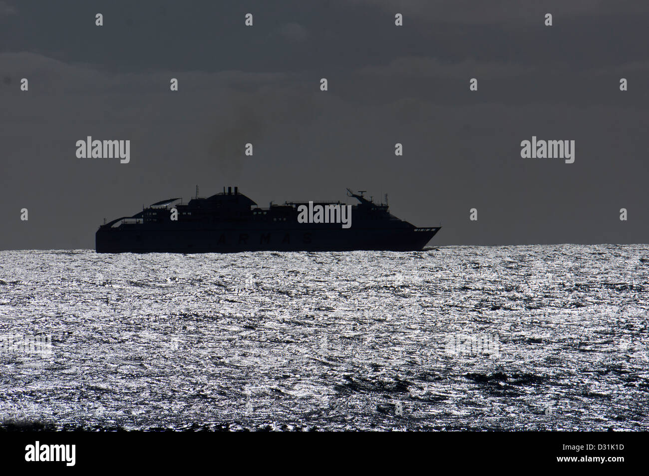 Passenger and car Ferry ARMAS Lanzarote Canary Island - Stock Image