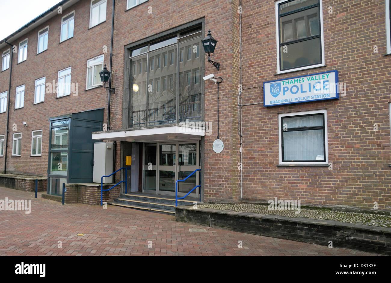 Bracknell Police Station (Thames Valley Police), The Broadway, Bracknell, Berkshire, RG12 1AD UK. - Stock Image