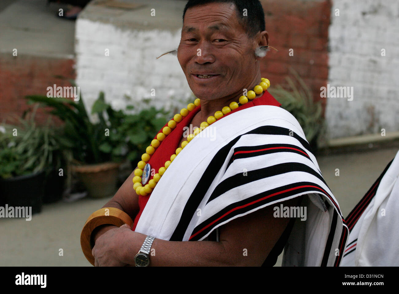 992d47fcf4 Man from Angami Naga tribe dressed in traditional clothes, Kohima, Nagaland,  Northeast India