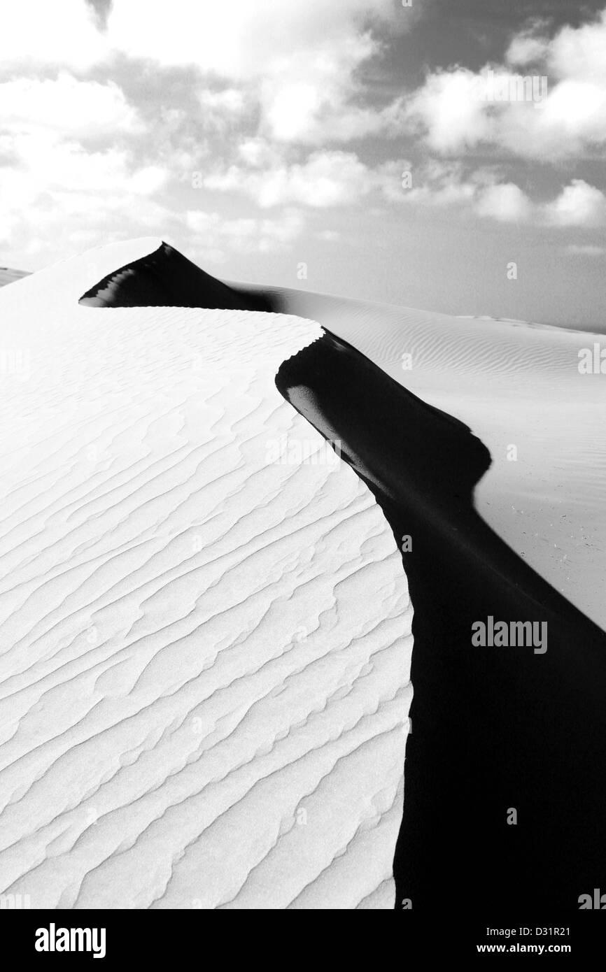 Te Paki giant sand dunes near Cape Reinga in the Far North - Stock Image