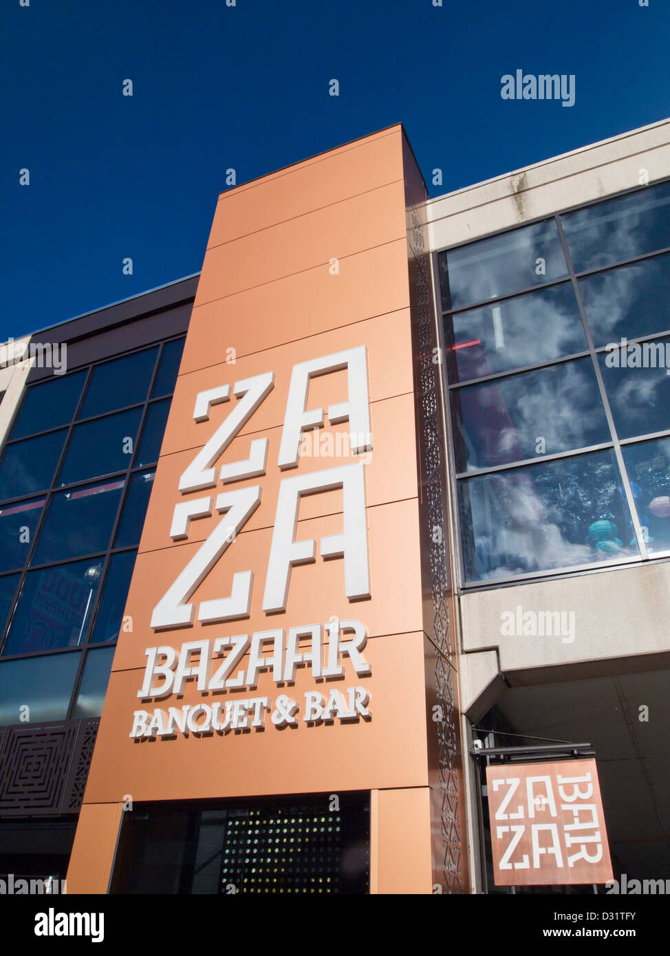 The harbourside at Bristol is home to many bars and restaurant's. This is Za Za bar and bazaar. - Stock Image