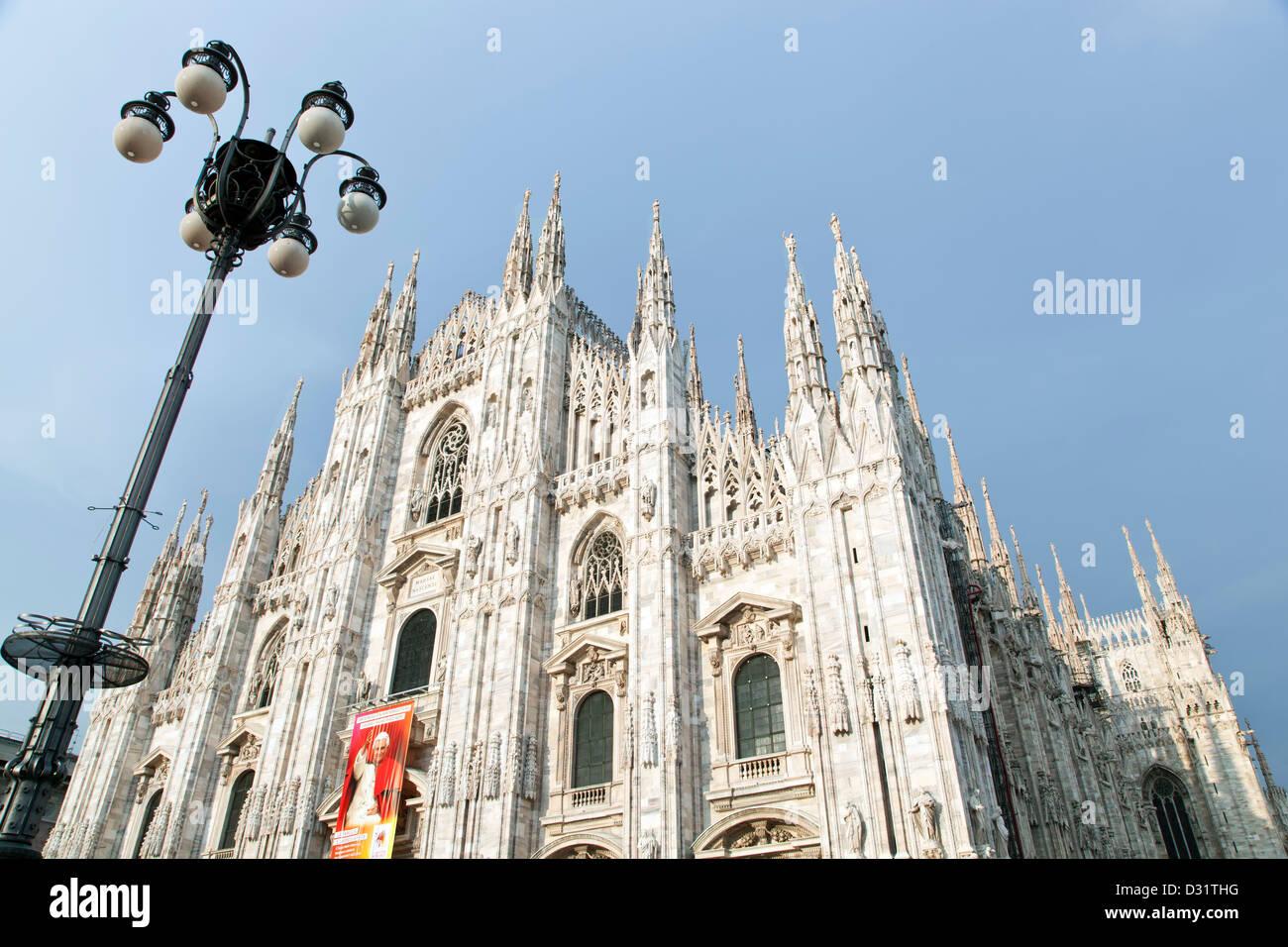 Milan Cathedral (Duomo di Milano), Duomo Square, Milan, Italy - Stock Image
