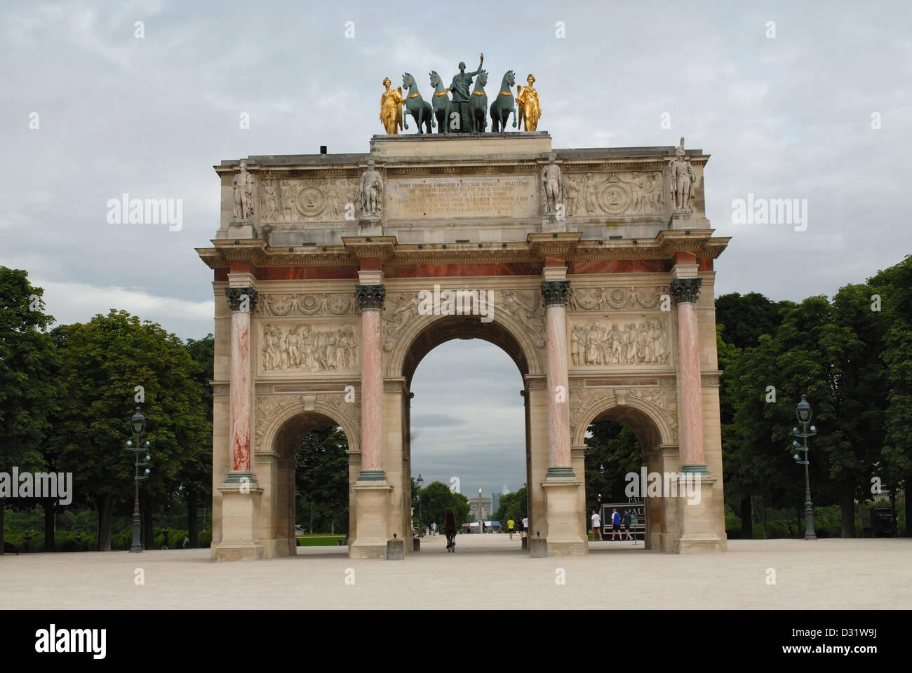 Arc de Triomphe du Carrousel, Paris, France - Stock Image