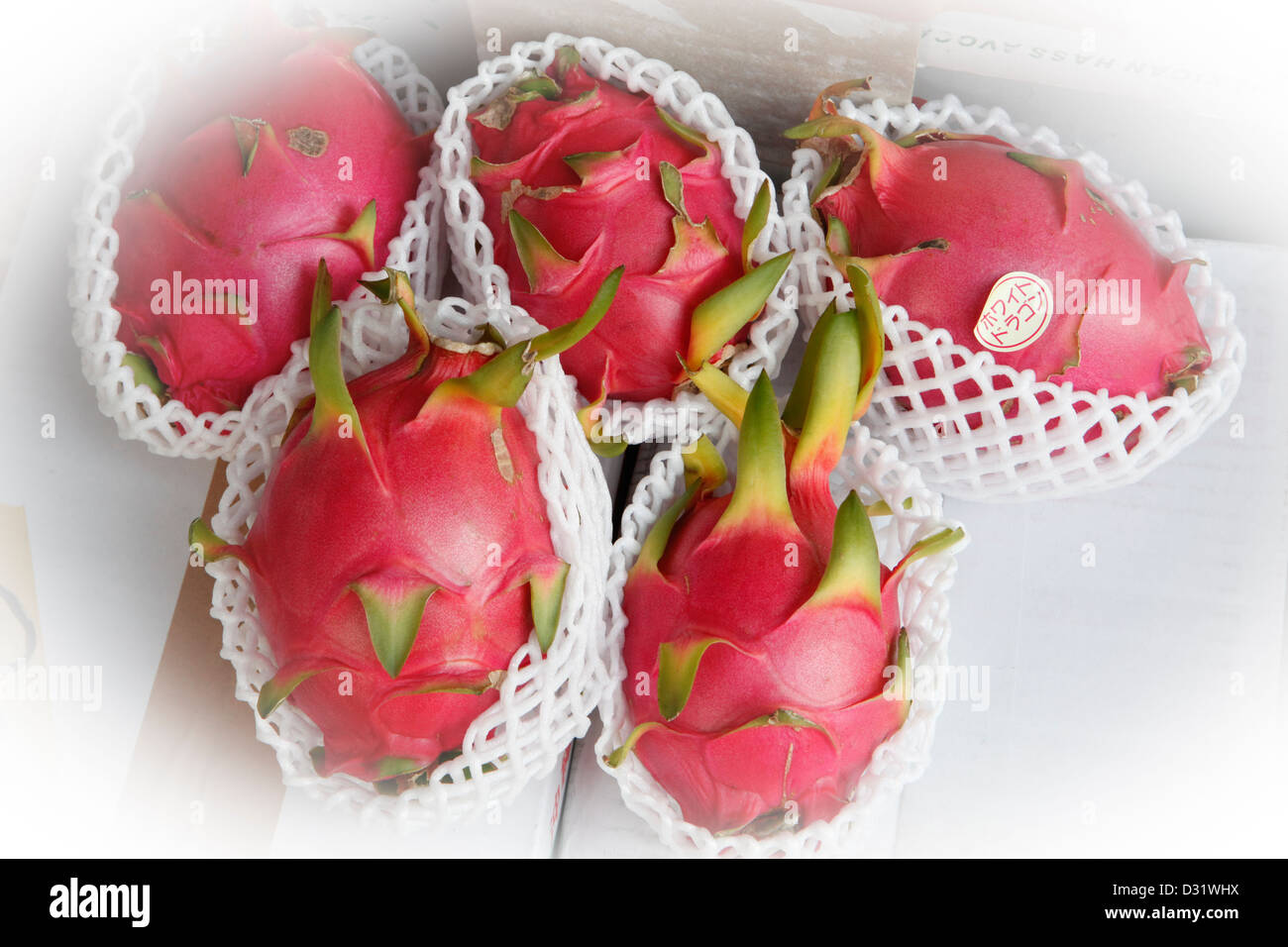Pitaya, fruit, Japan - Stock Image