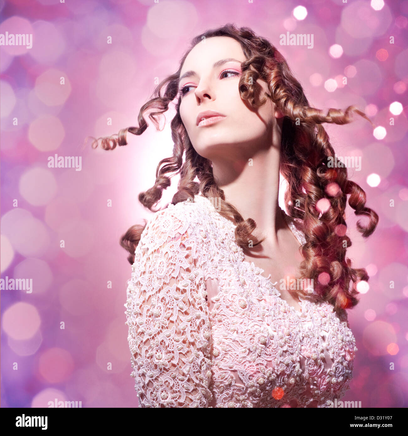 beautiful pink princess - Stock Image