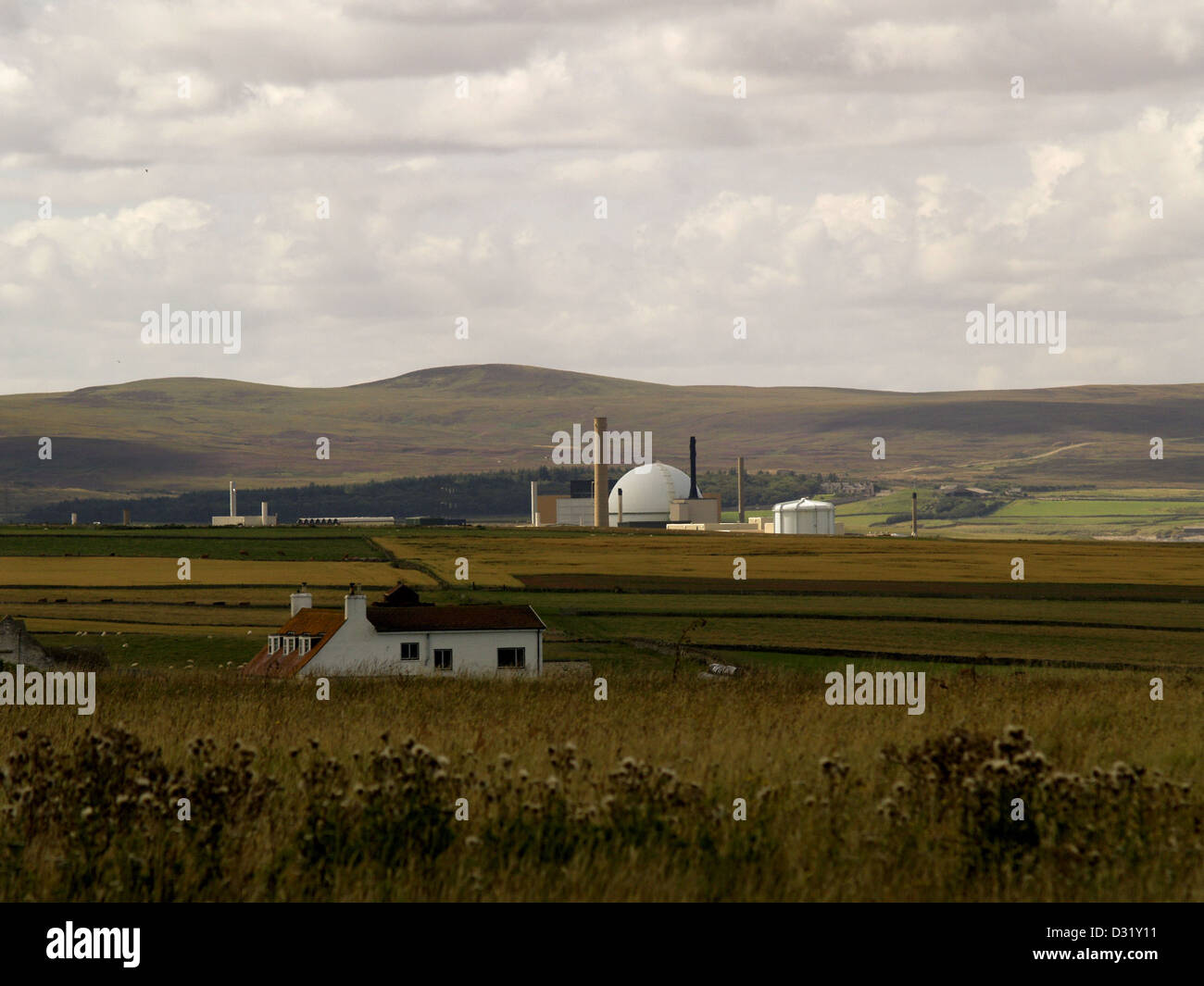 The Iconic Steel dome of the  Dounreay Nuclear plant in Caithness. - Stock Image