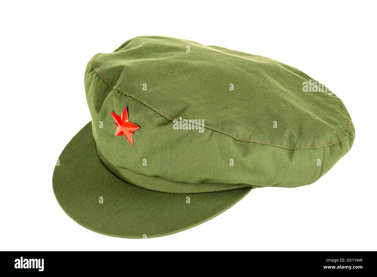 Chinese red star cap - Stock Image