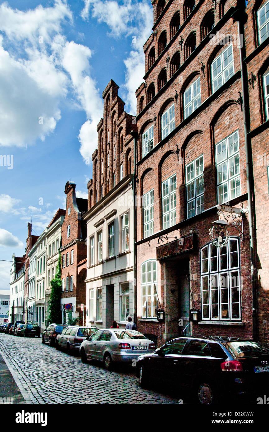 City center, Lübeck, Germany - Stock Image