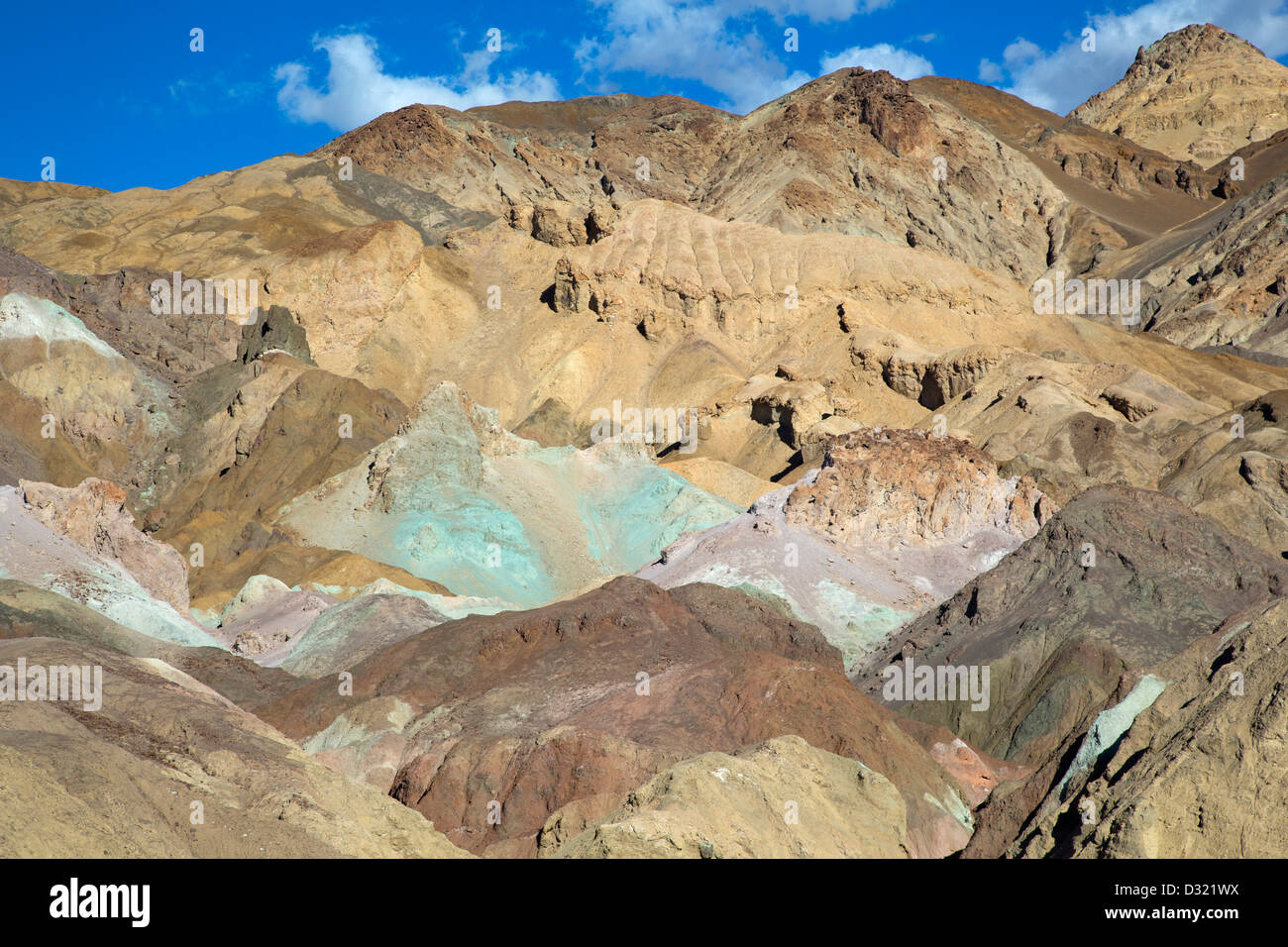 Death Valley National Park, California - Artists Palette, an area of multicolored rock along Artists Drive. - Stock Image