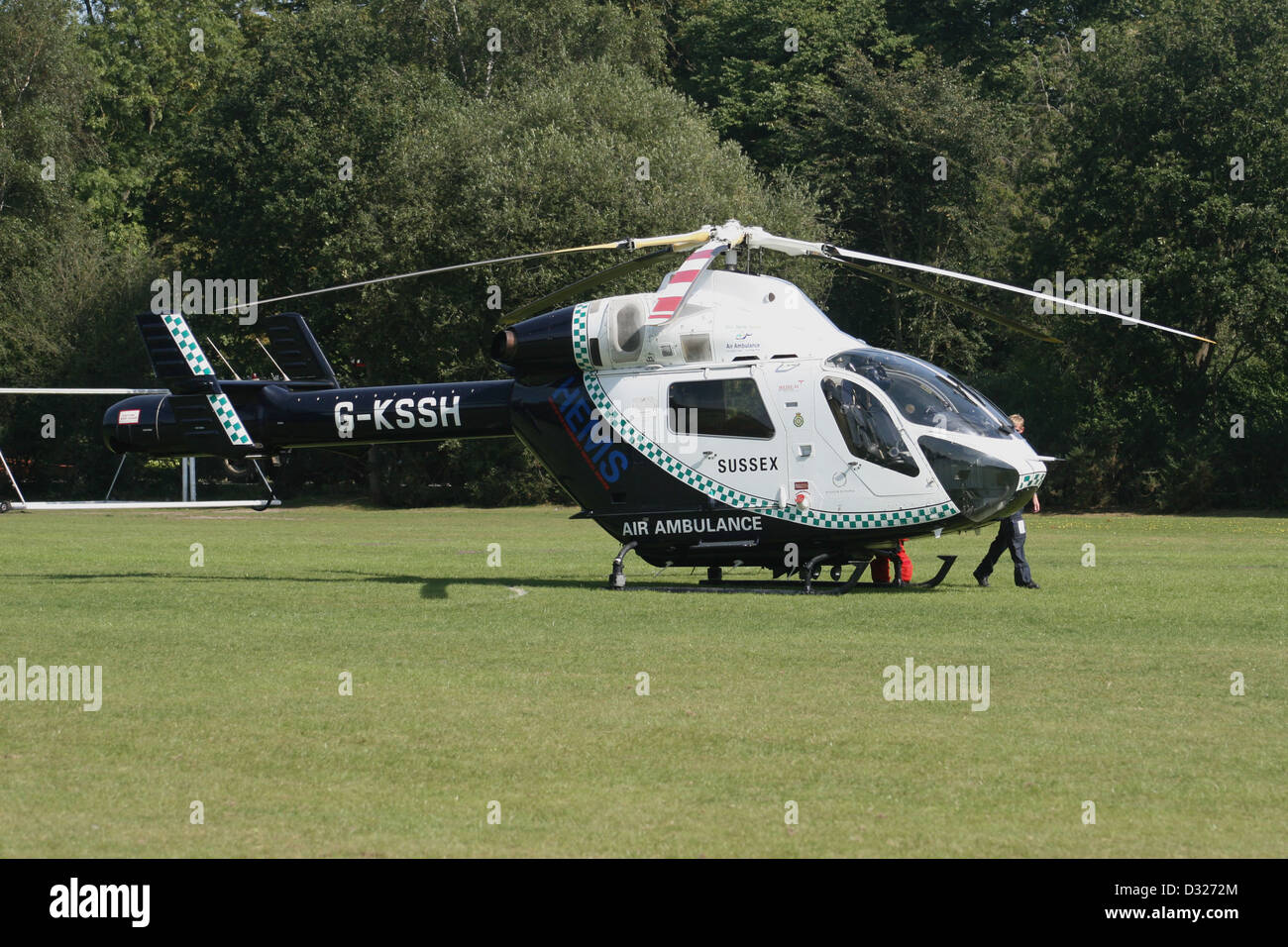 SUSSEX SURREY AIR AMBULANCE - Stock Image