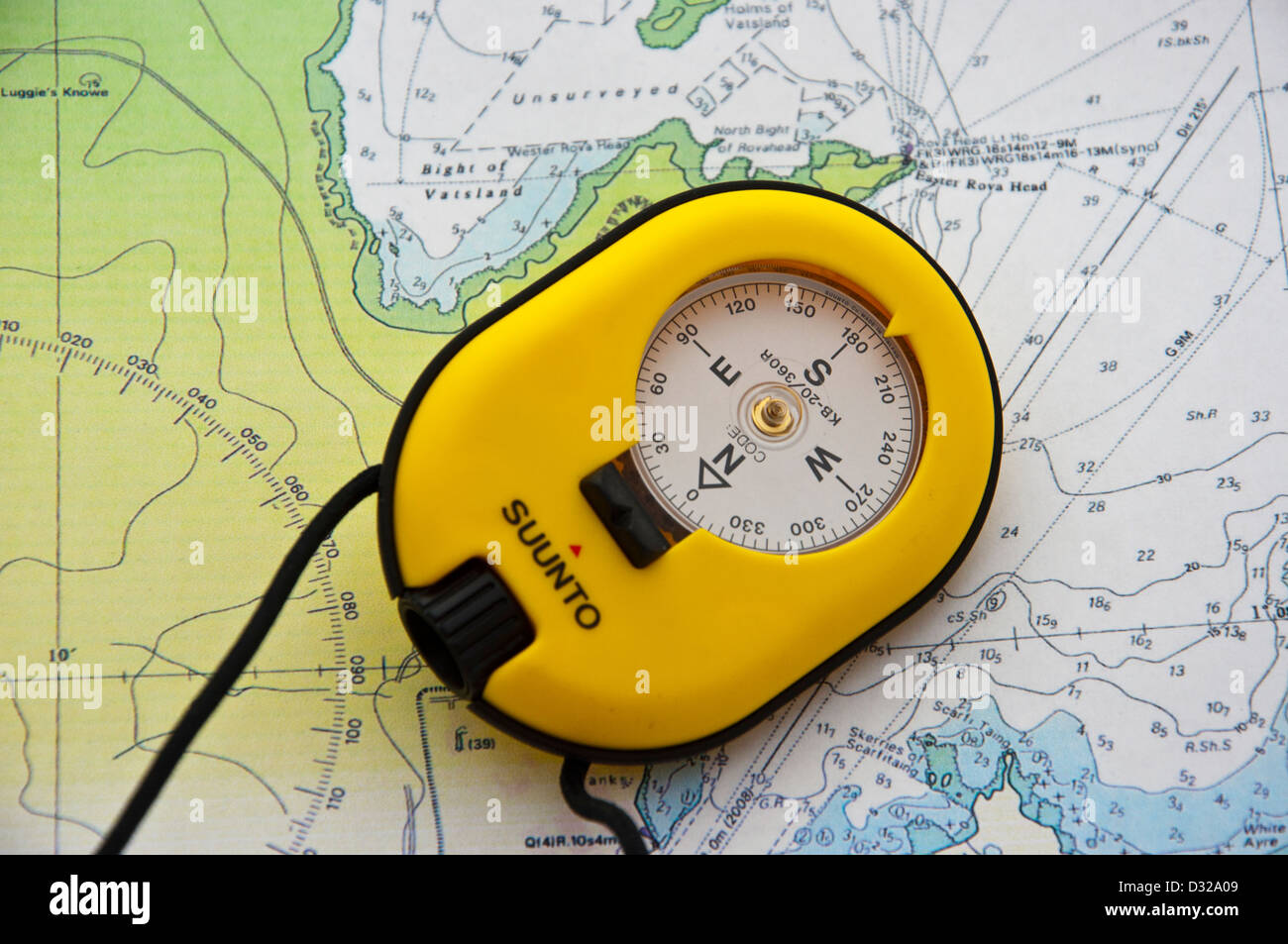 marine sighting compass - Stock Image