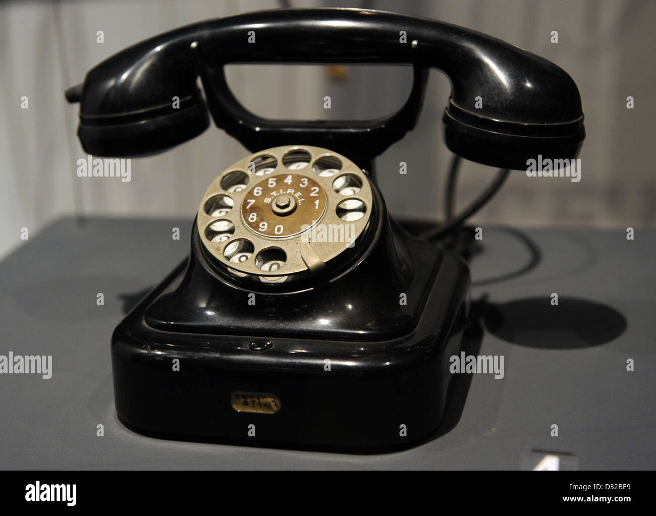 Automatic central battery telephone. Model 27. Siemens. 1927. Milan - Stock Image