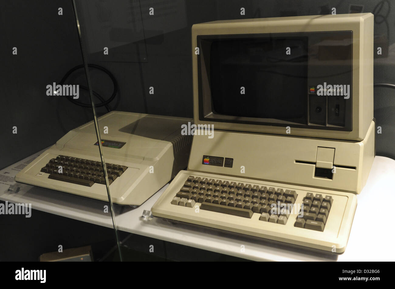 Computer. MAC model. Early 80's. 20th century. National Museum of Science and Technology Leonardo Da Vinci. - Stock Image