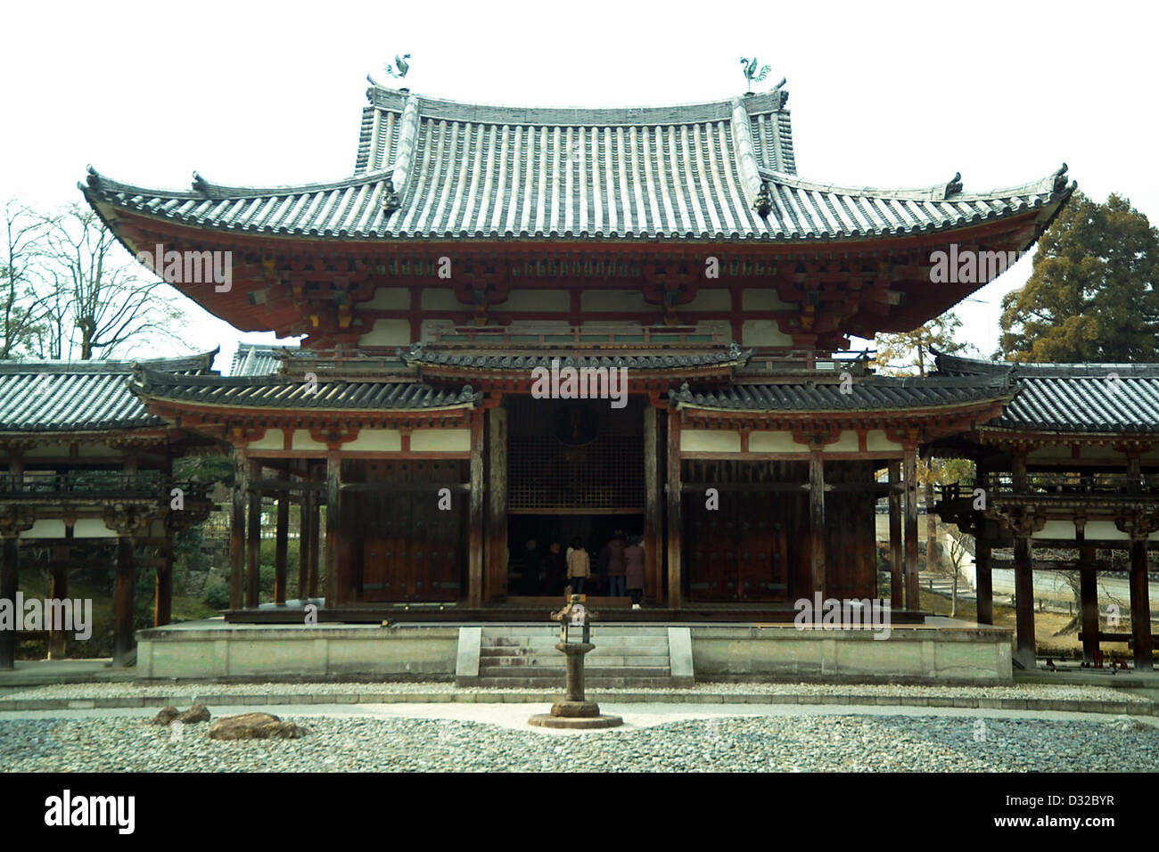 Phoenix Hall of the Byodo-in, a temple in the city of Uji, Kyoto prefecture - Stock Image