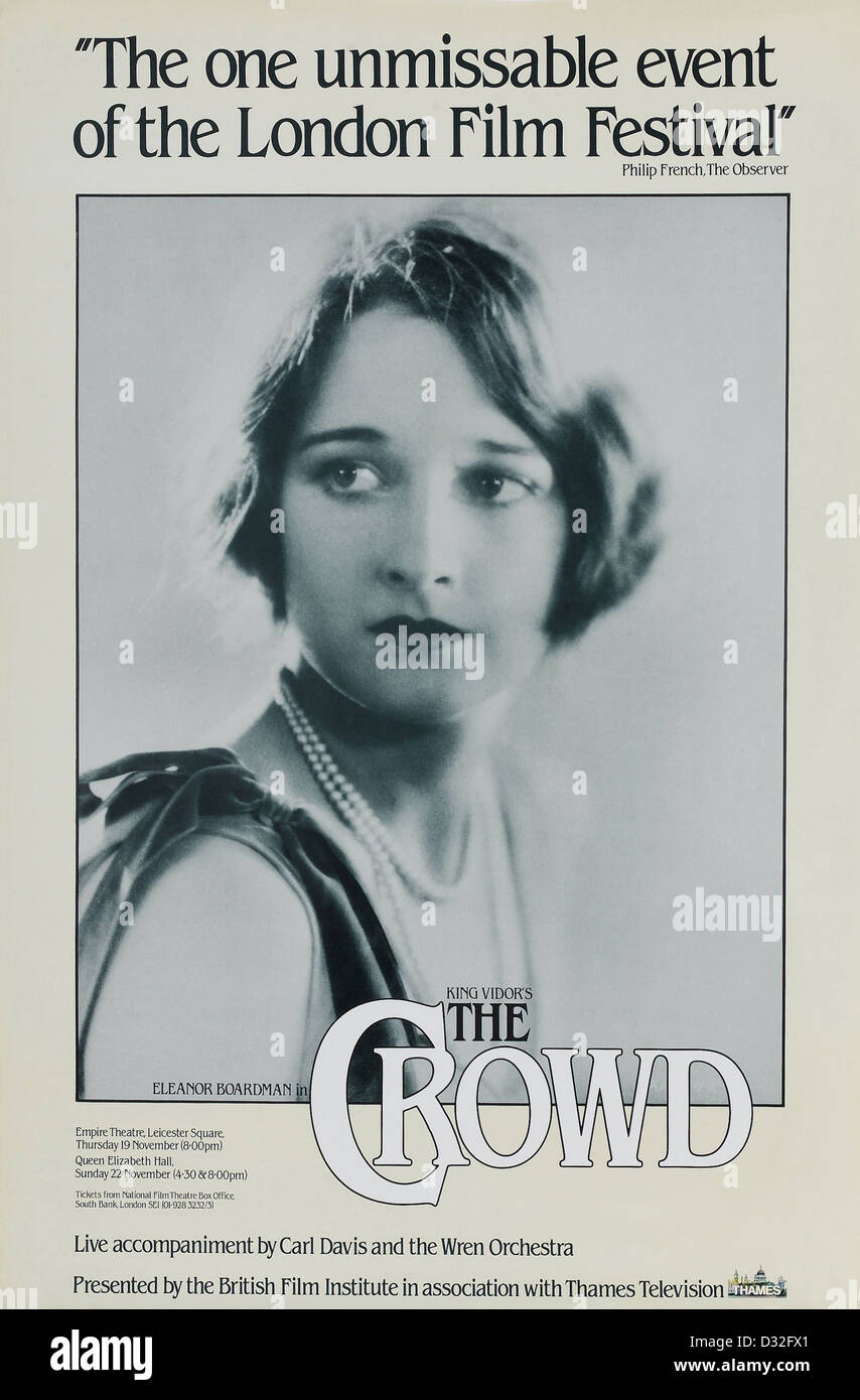 King Vidor Eleanor Boardman Movie Poster Usa Stock Photos King