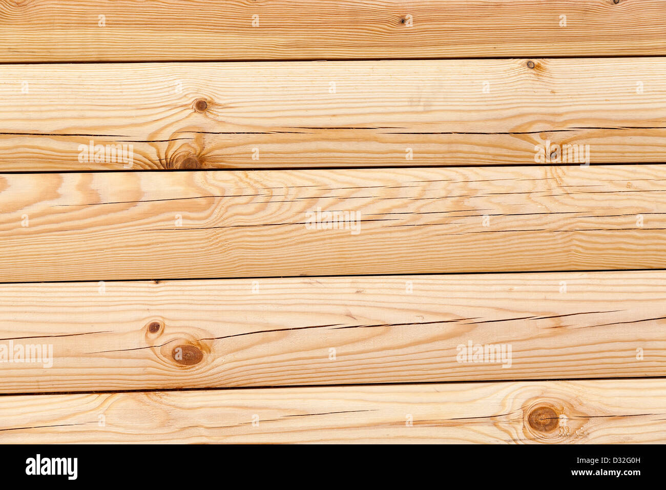 Yellow wood texture with natural patterns - Stock Image