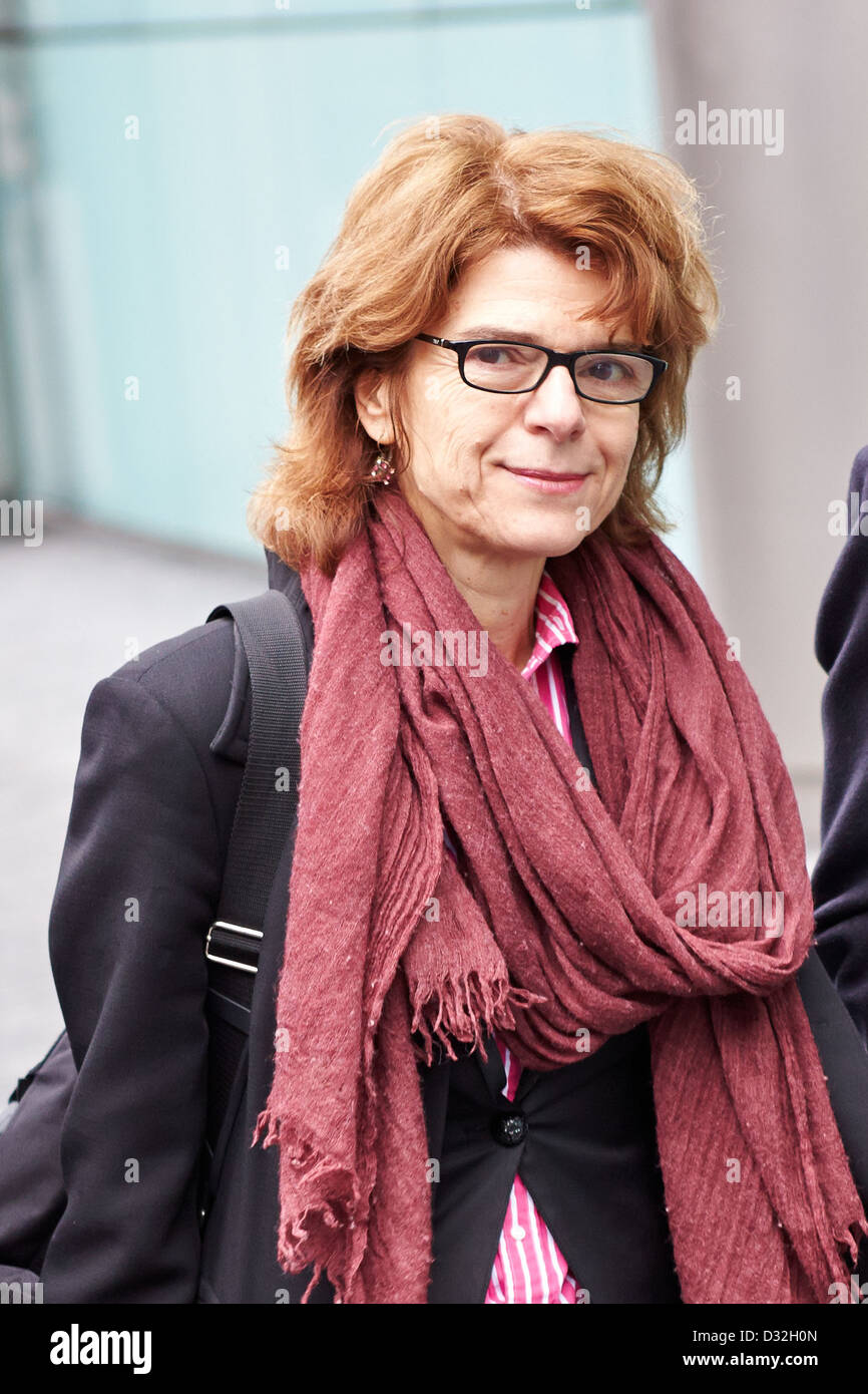 Vicky Pryce (pictured), former wife of Chris Huhne (not pictured) leaves Southwark Crown Court - Stock Image