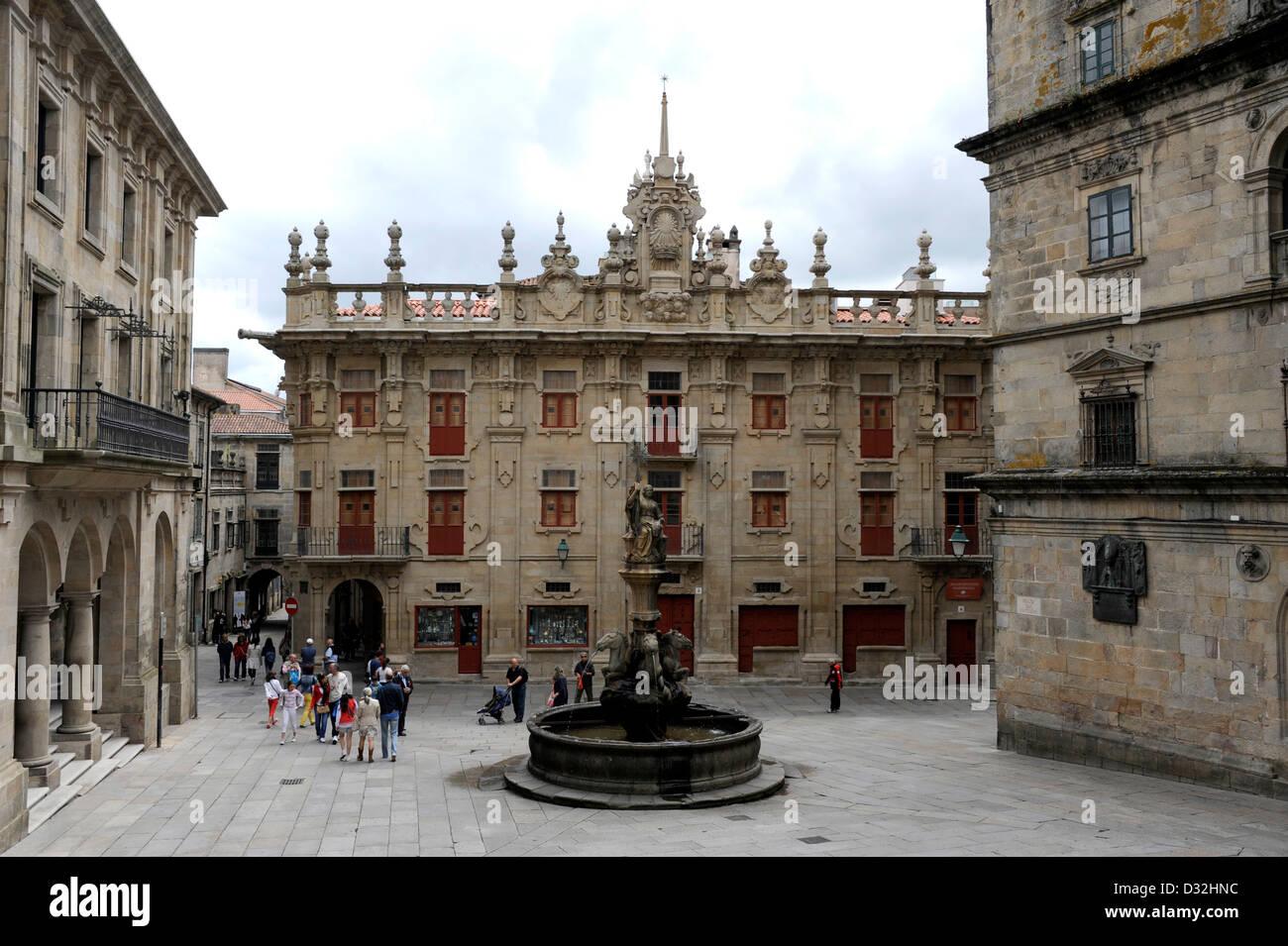 Santiago de Compostela,Pilgrimage,Way of St. James,La Coruna province,Galicia,Spain,UNESCO World Heritage - Stock Image